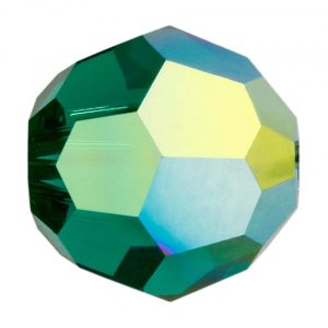 5000 - 8mm Swarovski Faceted Round Bead - Emerald AB