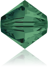 5301/5328 - 7mm Swarovski Bicone Crystal Bead - Emerald