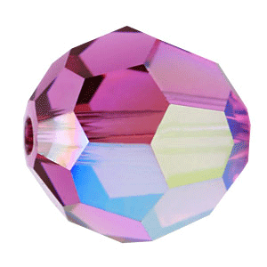 5000 - 8mm Swarovski Faceted Round Bead - Fuchsia AB