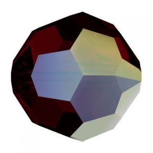 5000 - 8mm Swarovski Faceted Round Bead - Garnet AB