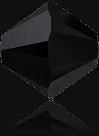 5301/5328 - 7mm Swarovski Bicone Crystal Bead - Jet