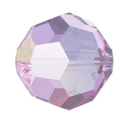 5000 - 8mm Swarovski Faceted Round Bead - Light Amethyst AB