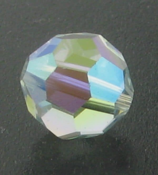 5000 - 8mm Swarovski Faceted Round Bead - Light Azore AB