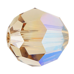 5000 - 8mm Swarovski Faceted Round Bead - Light Col Topaz AB