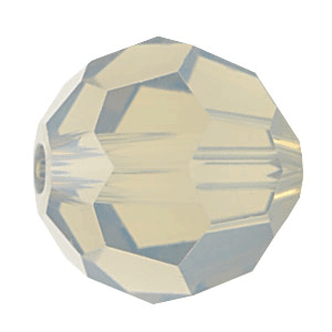 5000 - 8mm Swarovski Faceted Round Bead - Light Grey Opal