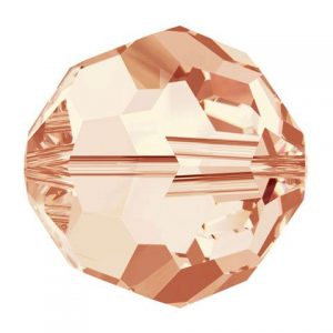 5000 - 8mm Swarovski Faceted Round Bead - Light Peach
