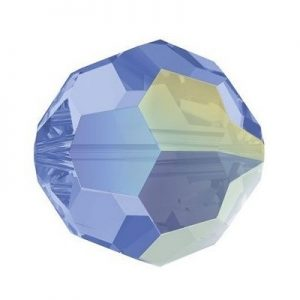 5000 - 8mm Swarovski Faceted Round Bead - Light Sapphire AB