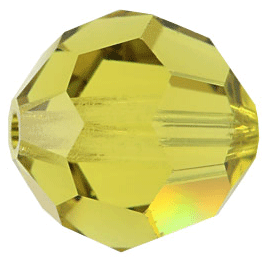 5000 - 8mm Swarovski Faceted Round Bead - Lime