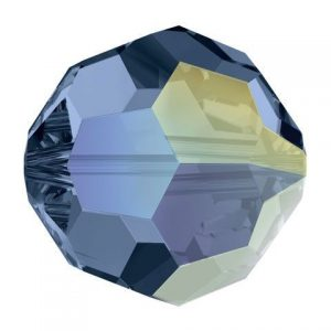 5000 - 8mm Swarovski Faceted Round Bead - Montana AB