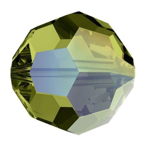 5000 - 8mm Swarovski Faceted Round Bead - Olivine AB