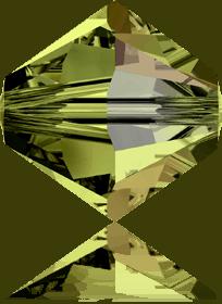 5301/5328 - 7mm Swarovski Bicone Crystal Bead - Olivine AB