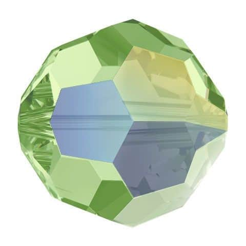 5000 - 8mm Swarovski Faceted Round Bead - Peridot AB