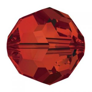 5000 - 8mm Swarovski Faceted Round Bead - Crystal Red Megma