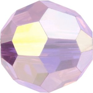 5000 - 8mm Swarovski Faceted Round Bead - Rose Water Opal AB