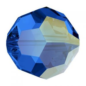 5000 - 8mm Swarovski Faceted Round Bead - Sapphire AB