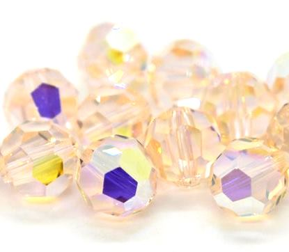5000 - 8mm Swarovski Faceted Round Bead - Silk AB