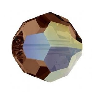 5000 - 8mm Swarovski Faceted Round Bead - Smoked Topaz AB