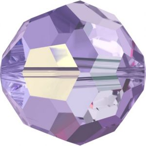 5000 - 8mm Swarovski Faceted Round Bead - Tanzanite AB
