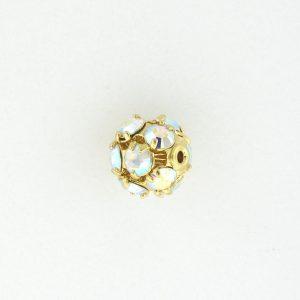 # 3708 - 8mm Swarovski Gold Plated Rhinestone Ball - Crystal AB