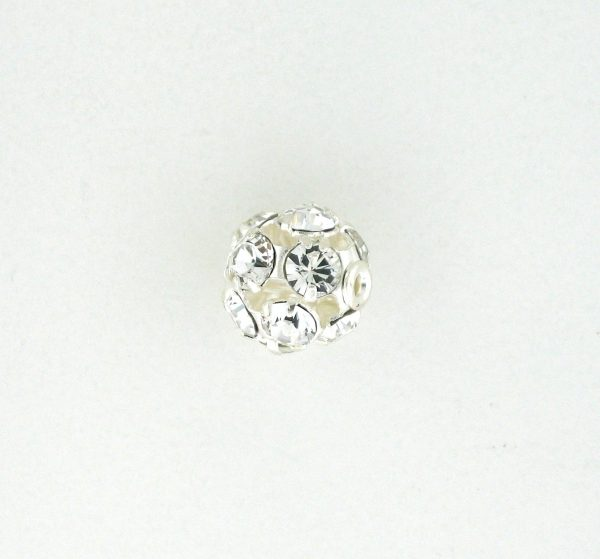 # 3710 - 10mm Swarovski Rhodium Plated Rhinestone Ball - Crystal