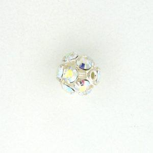 # 3708S - 8mm Swarovski Silver Plated Rhinestone Ball - Crystal AB