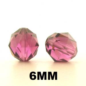 5025 - 6mm Swarovski Faceted Round Beads