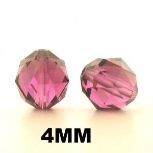 5025 - 4mm Swarovski Faceted Round Beads