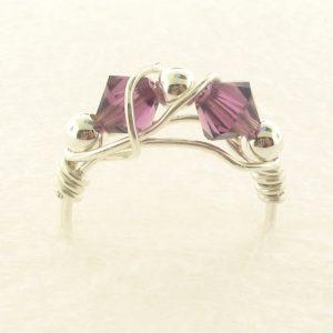 12102S - Silver Ring With Swarovski Crystal
