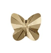 5754 - 5mm Swarovski Butterfly Crystal Bead - Golden Shadow