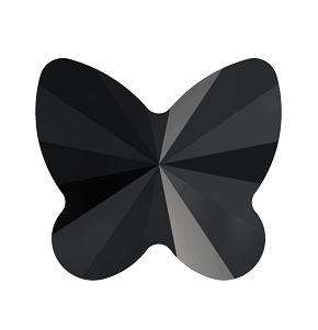 5754 - 5mm Swarovski Butterfly Crystal Bead - Jet