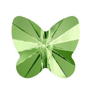 5754 - 5mm Swarovski Butterfly Crystal Bead - Peridot