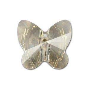 5754 - 5mm Swarovski Butterfly Crystal Bead - Silver Shade