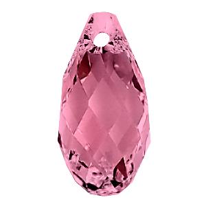 6010 - 11x5.5mm Swarovski Briolette Pendant - Indian Pink