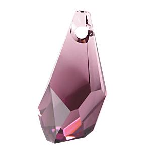 6015 - 17mm Swarovski Polygon Drop Pendant - Amethyst