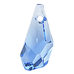 6015 - 13mm Swarovski Polygon Drop Pendant - Aquamarine