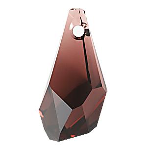 6015 - 13mm Swarovski Polygon Drop Pendant - Burgundy