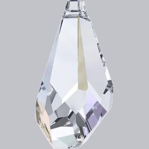 6015 - 17mm Swarovski Polygon Drop Pendant - Crystal AB