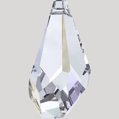 6015 - 21mm Swarovski Polygon Drop Pendant -  Crystal AB