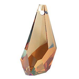 6015 - 13mm Swarovski Polygon Drop Pendant - Crystal Copper