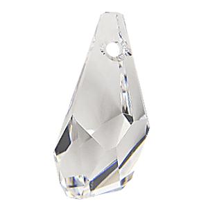 6015 - 13mm Swarovski Polygon Drop Pendant - Crystal