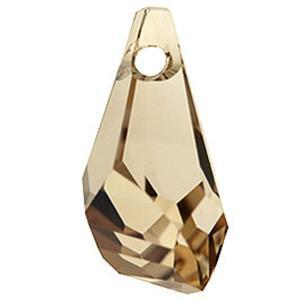6015 - 50mm Swarovski Polygon Drop Pendant - Golden Shadow