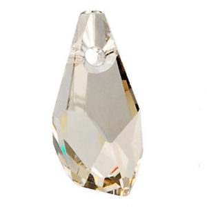 6015 - 17mm Swarovski Polygon Drop Pendant - Silver Shade