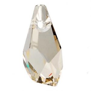 6015 - 21mm Swarovski Polygon Drop Pendant - Silver Shade