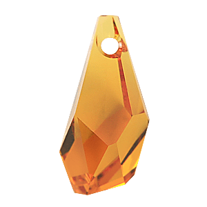 6015 - 17mm Swarovski Polygon Drop Pendant - Topaz