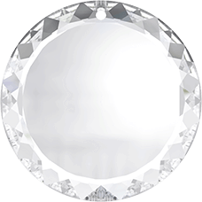 6049 - 30mm Swarovski Flat Disc Pendant - Crystal