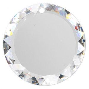 6049 - 20mm Swarovski Flat Disc Pendant - Crystal AB