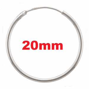 1401-20 - 1.25x20mm Sterling Silver Endless Hoops