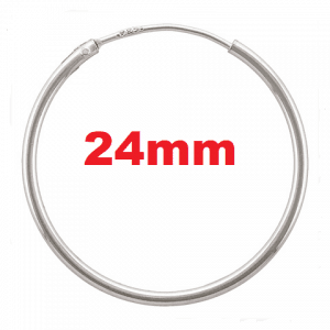 1401 - 1.25x24mm Sterling Silver Endless Hoops