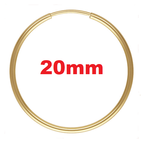 1769 - 1.25x20mm 14K Gold Filled Endless Hoops