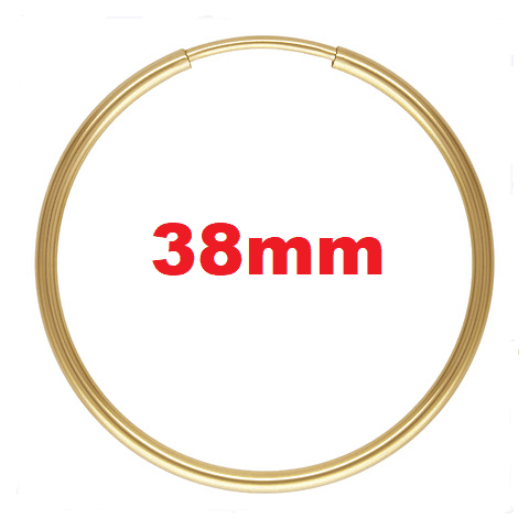1771 - 1.25x38mm 14K Gold Filled Endless Hoops